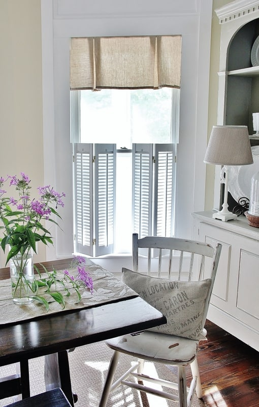 This simple and easy tutorial for a new sew valance will change up any room.