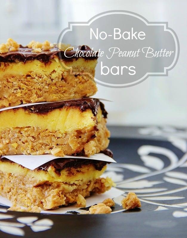 No-Bake-Chocolate-Peanut-Butter-Bars