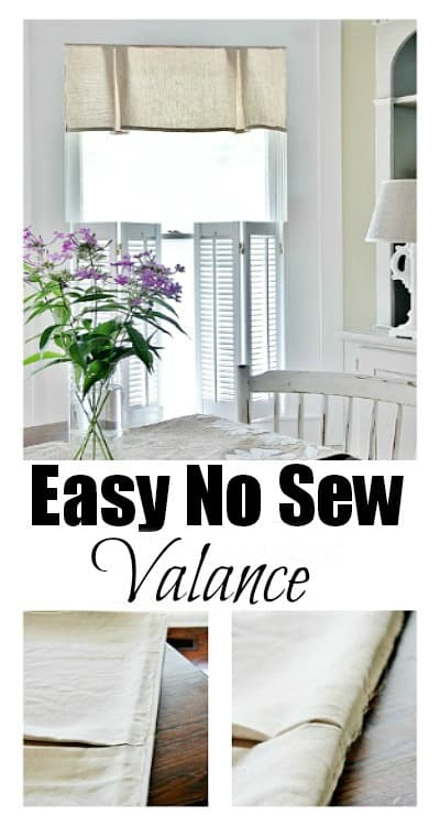 Easy no sew valance tutorial