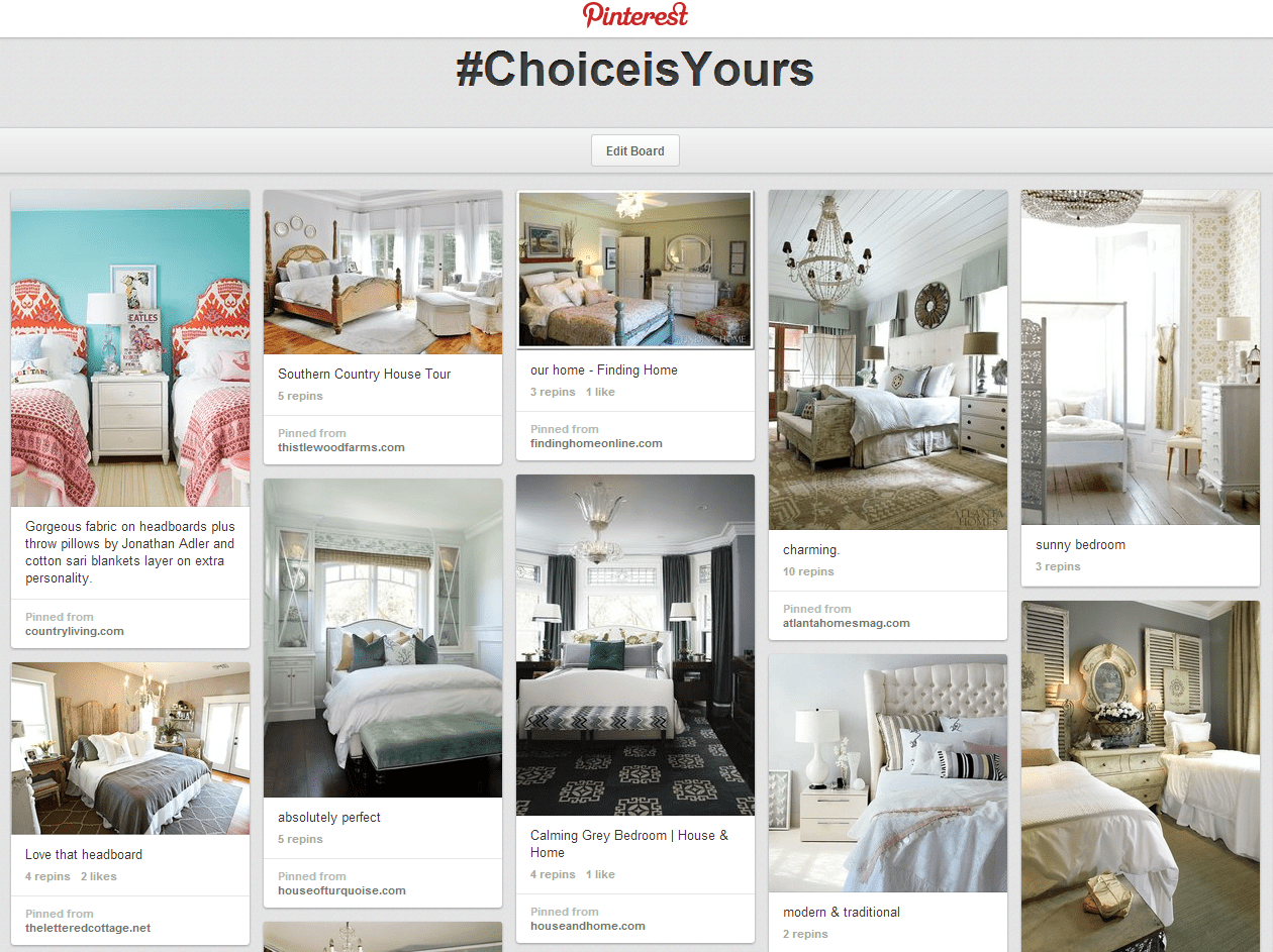 Choice is Yours Pinterest Board