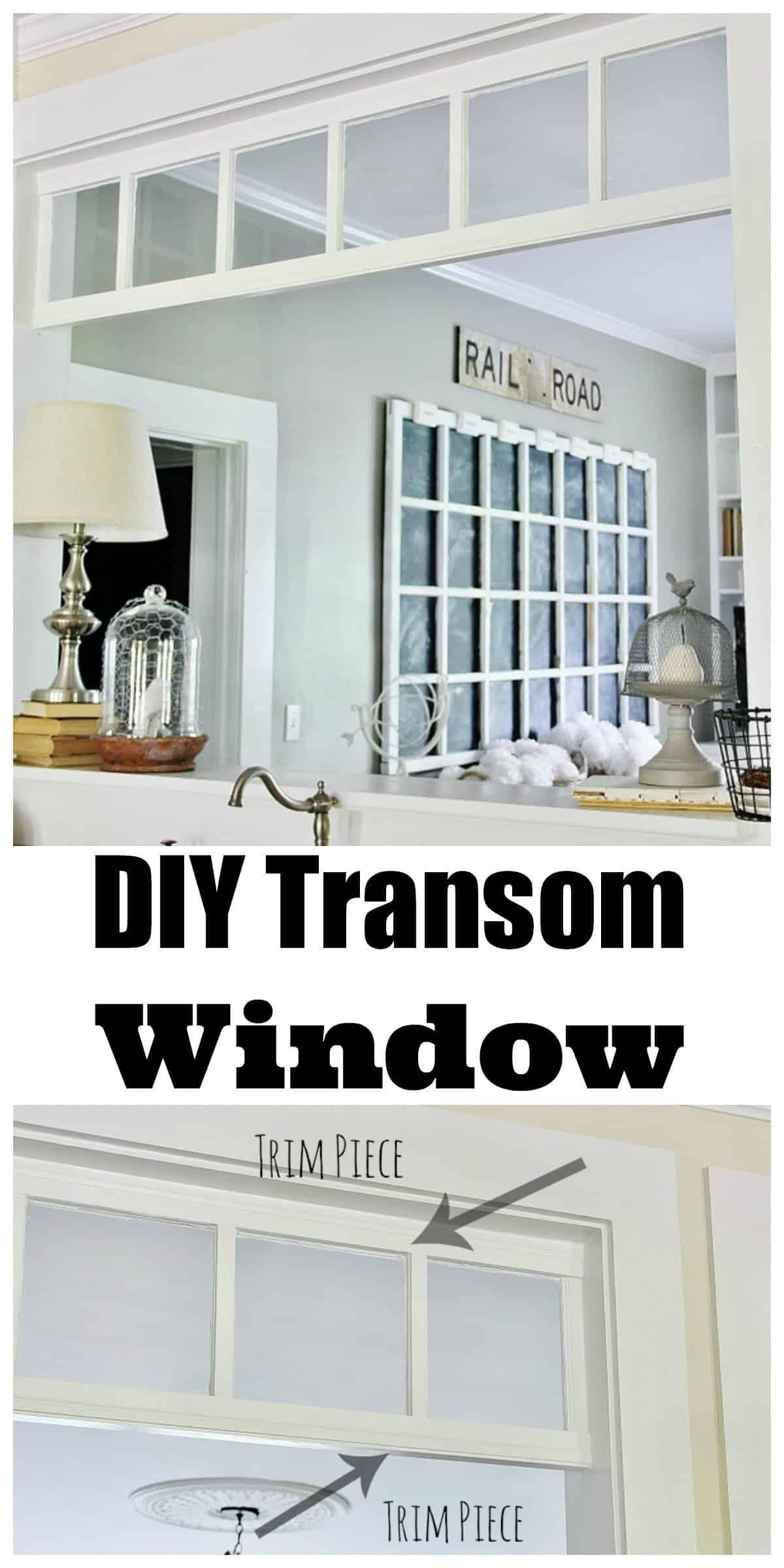 DIY Transom Window - Thistlewood Farm