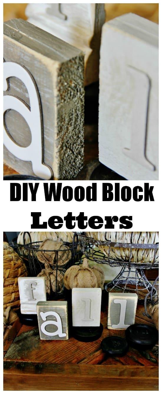 diy wood block letters Trash to Treasure DIY Wood Block
