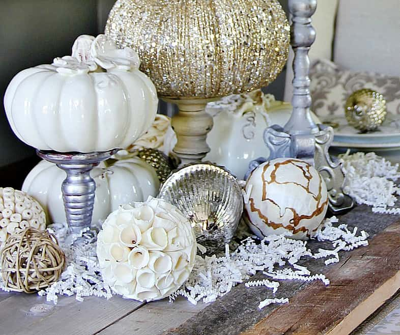 Five fall decorating ideas for the dining room and a giveaway thistlewood farm - Fall dining room table decorating ideas ...