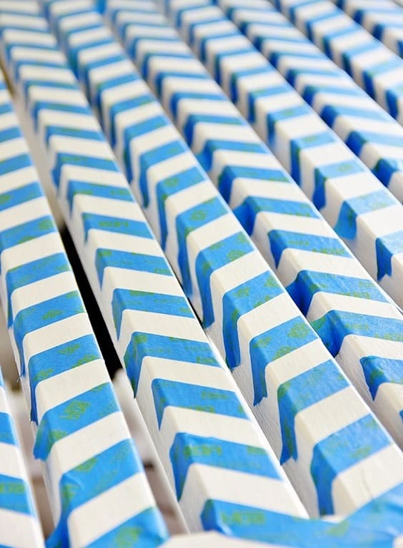chevron template for painting - how to paint chevron on a potting bench thistlewood farm