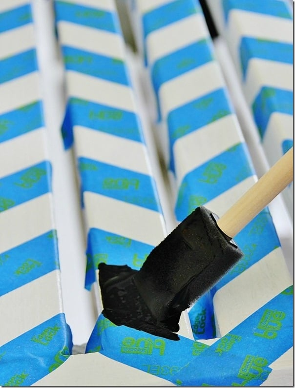 how-to-paint-chevron-potting-bench-paint
