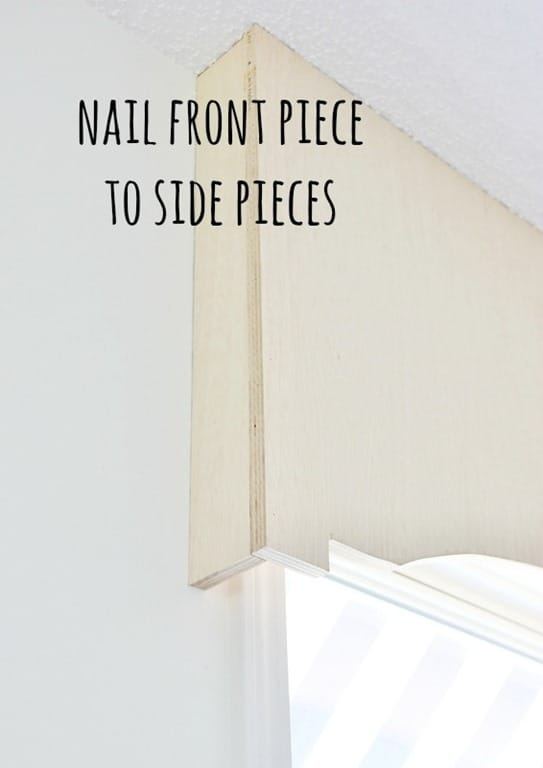 Nail the front pieces to the side pieces affixed to the wall