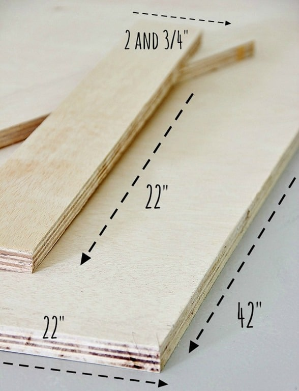 Cut out pieces of plywood to make the cornice board