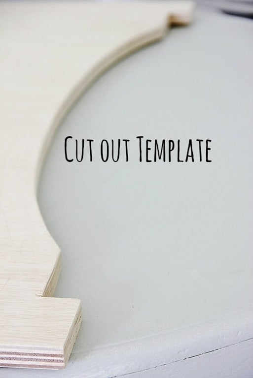 Cut out the template for your cornice board