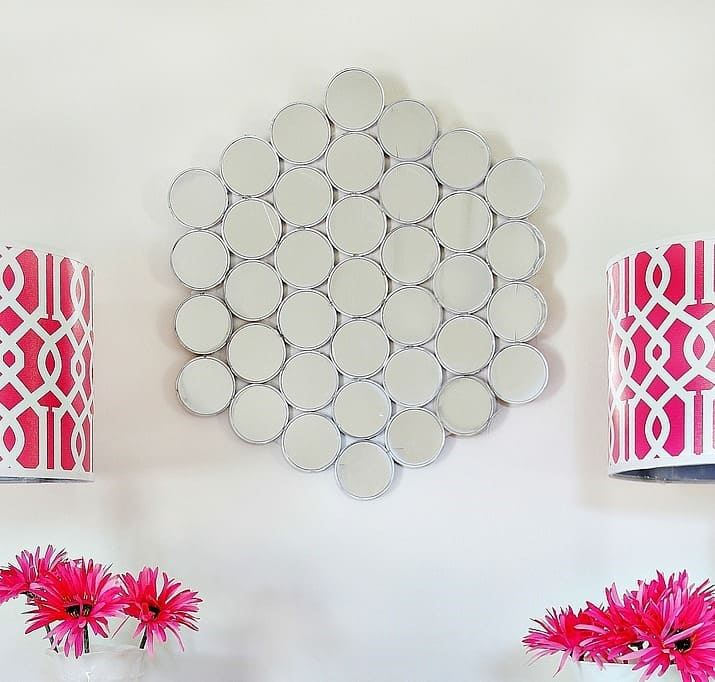 This gorgeous mirror is so easy to make- and inexpensive!