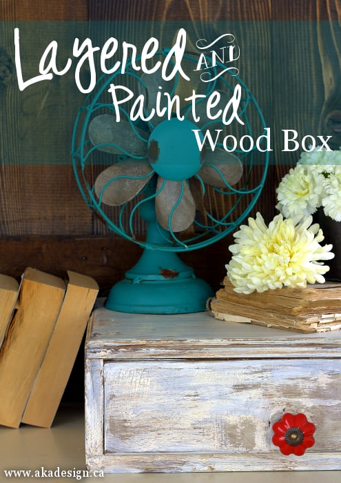 layered and painted wood box