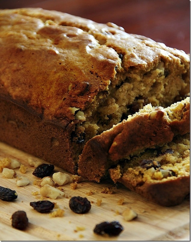Walnut Raisin Pumpkin Bread Recipe Thistlewood Farm