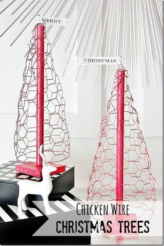 chicken-wire-Christmas-trees