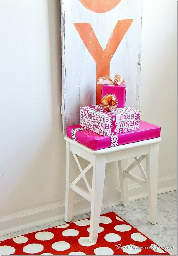 pink-and-orange-Christmas-presents