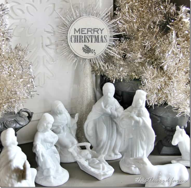 silver-and-white-Christmas-nativity