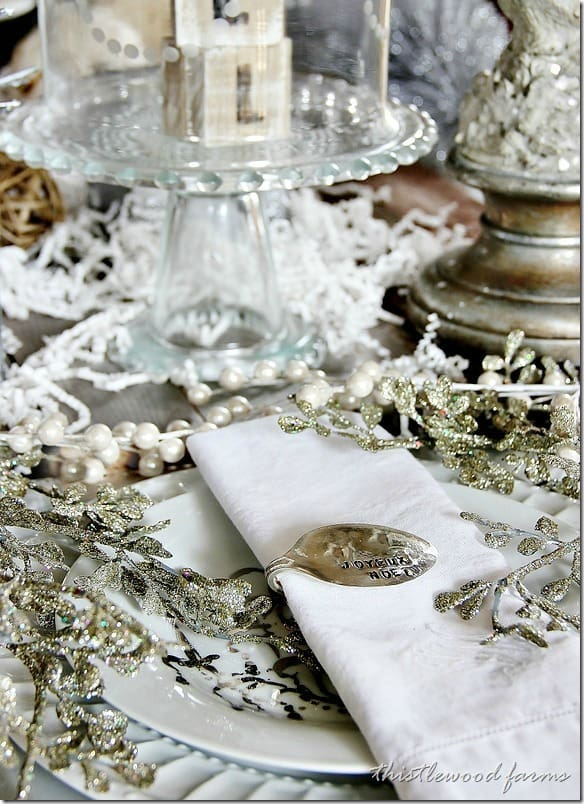 How to make your own stamped spoon napkin ring