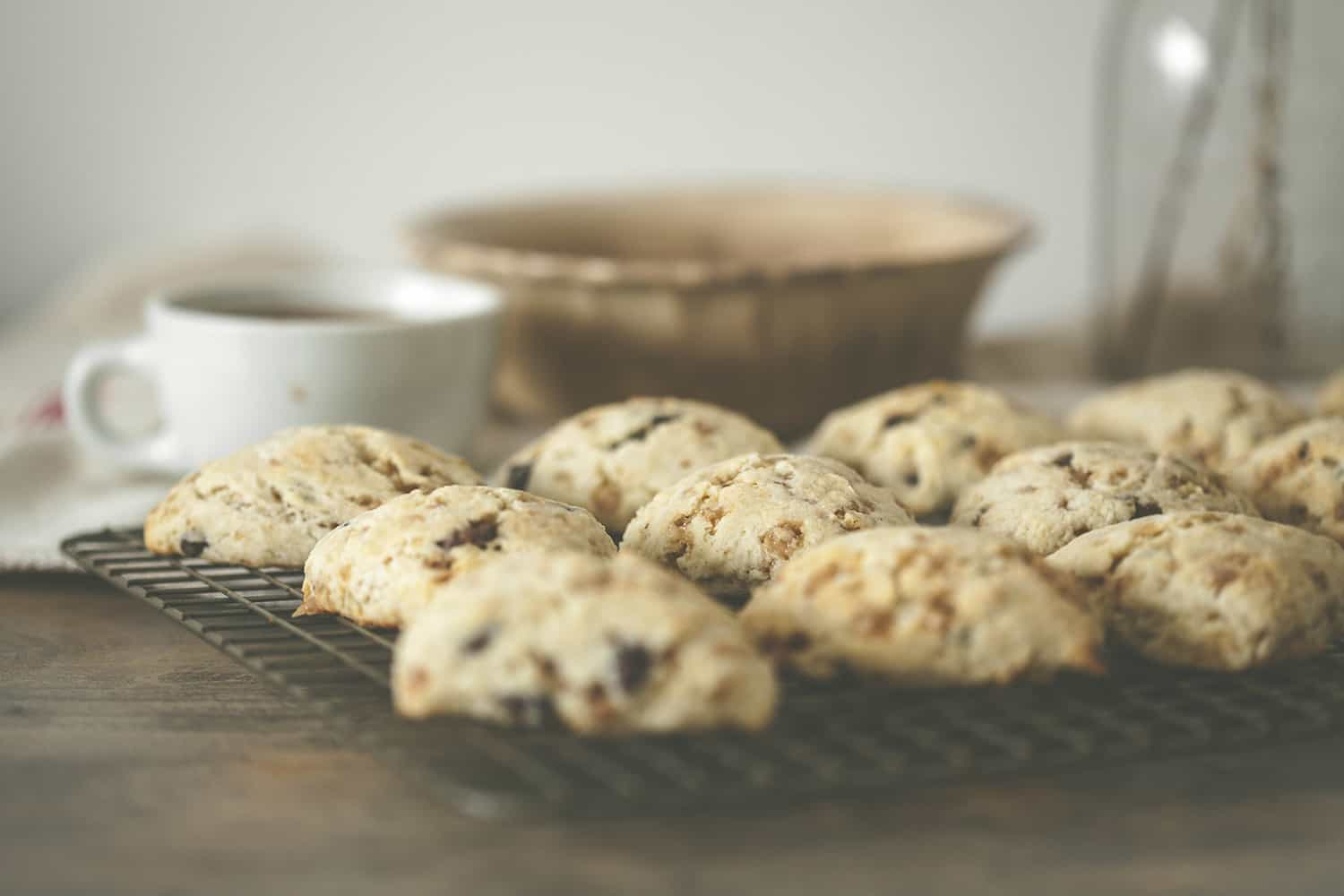 Toffee Chocolate Chip Scones Small - 14