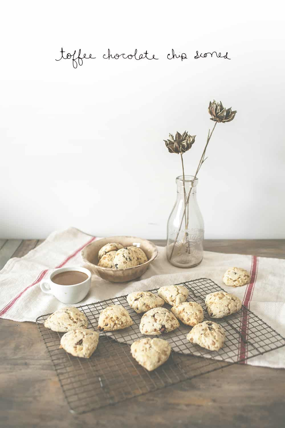 Toffee Chocolate Chip Scones Small - TITLE