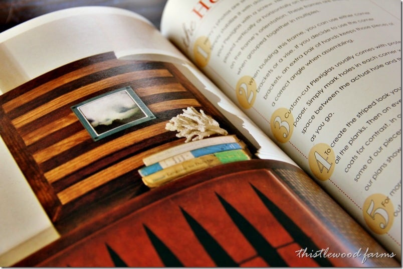Layered picture frames in the book