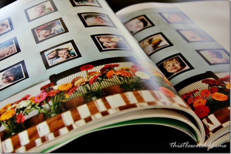 Giant frames and photos in the book