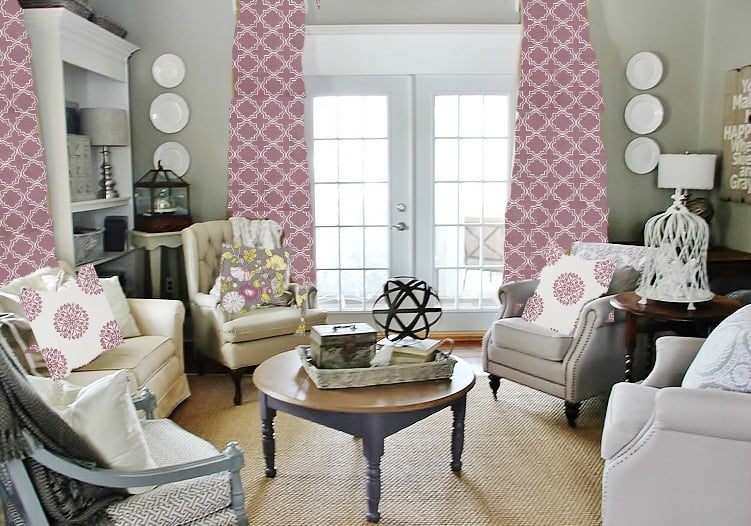 decorating-ideas-for-the-color-of-the-year-purple-fabric