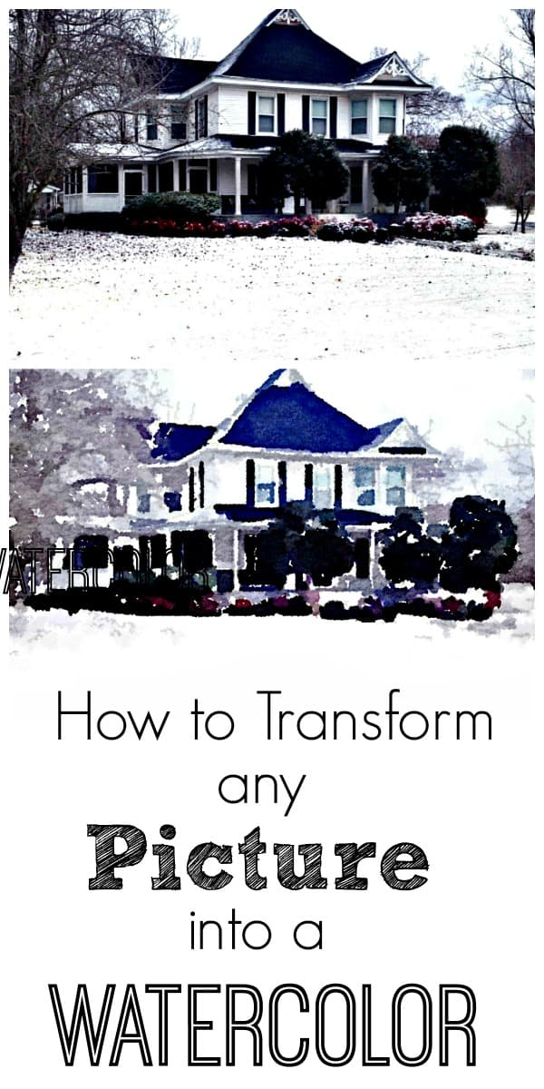 How to transform any picture or photograph into a watercolor painting
