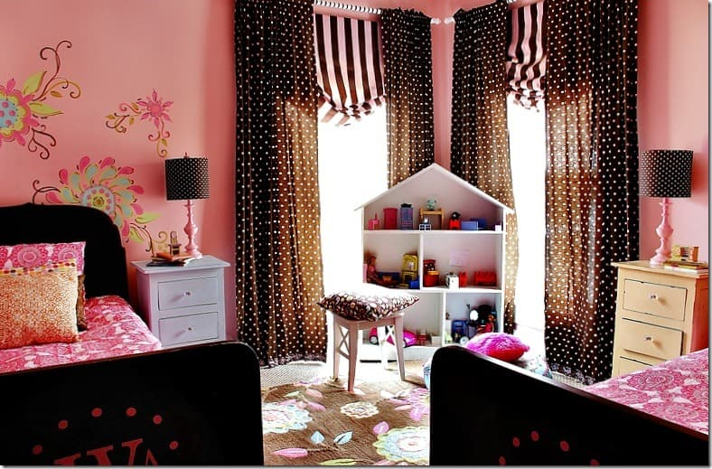 pink-and-brown-girls-room