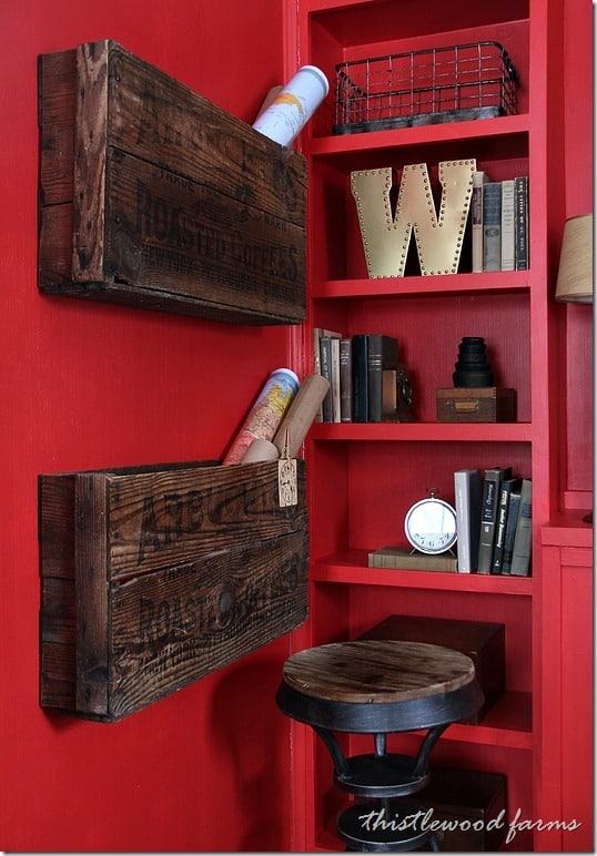 Sherwin-Williams-National-Paint-Week-Red-Room-Organizing