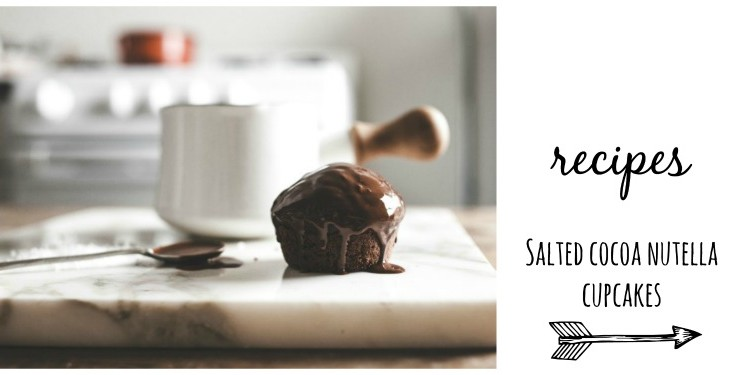 Salted Cocoa Nutella Cupcakes