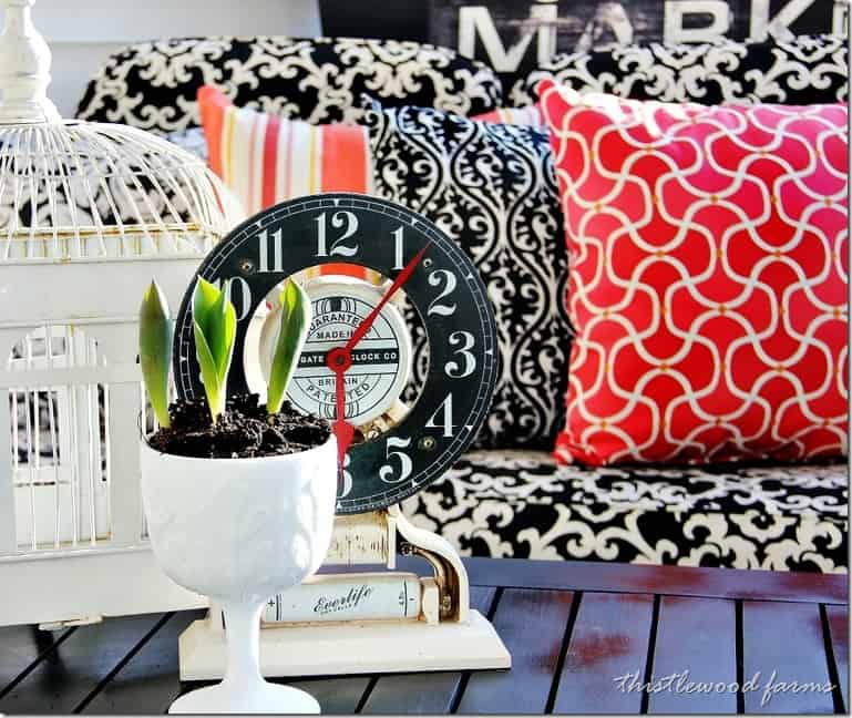 screened-in-porch-spring-clock