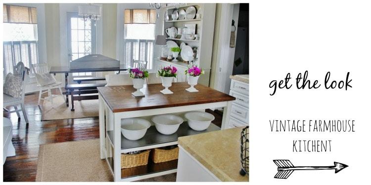 Get The Look Vintage Farmhouse Kitchen Thistlewood Farm