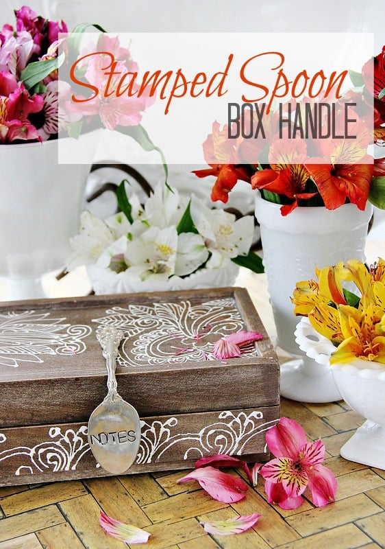 How to make a stamped spoon. A Stamped spoon makes a great box handle!
