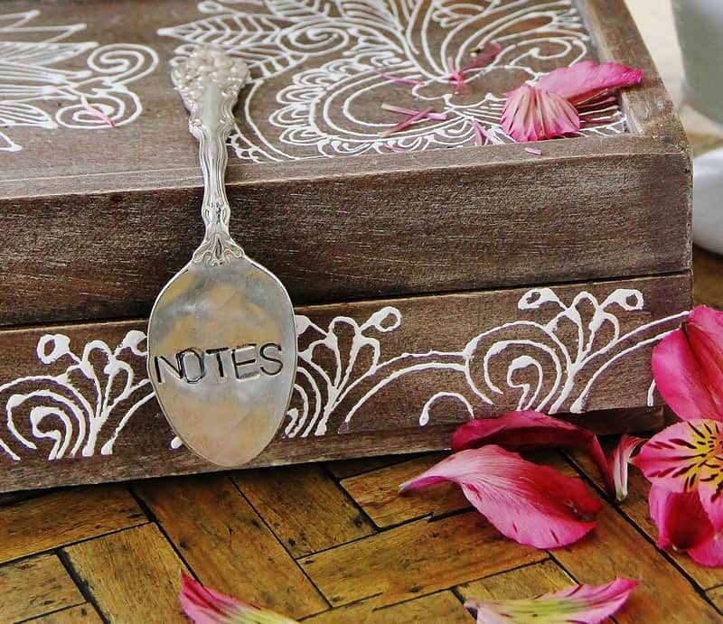 Stamped Spoon handle.