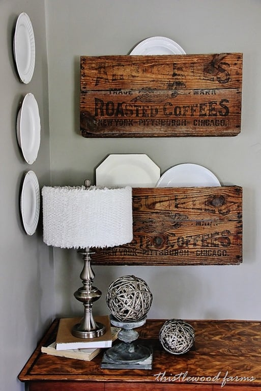 Coffee Crate Organizers and a Linky Party - Thistlewood Farm