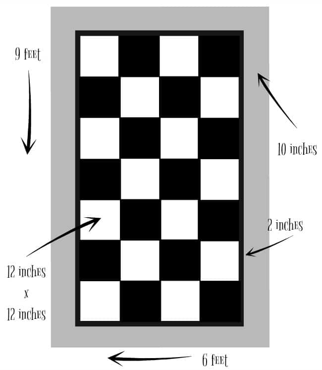 Here is the full pattern to paint your floorcloth