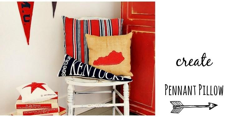 Pennant Flag Pillow and Go Kentucky!