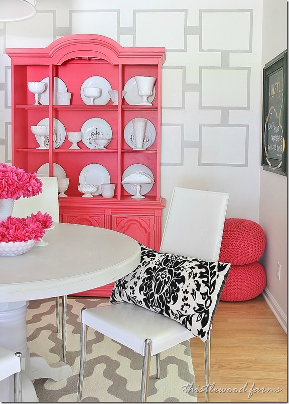 painted wall treatment idea on a budget thistlewood farm. Black Bedroom Furniture Sets. Home Design Ideas