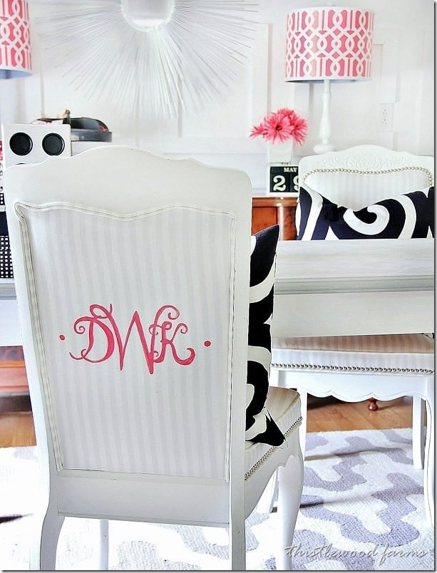 Sometimes you need a bright pink monogram to complete the look.
