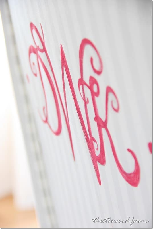 Now it's time to paint your monogram.