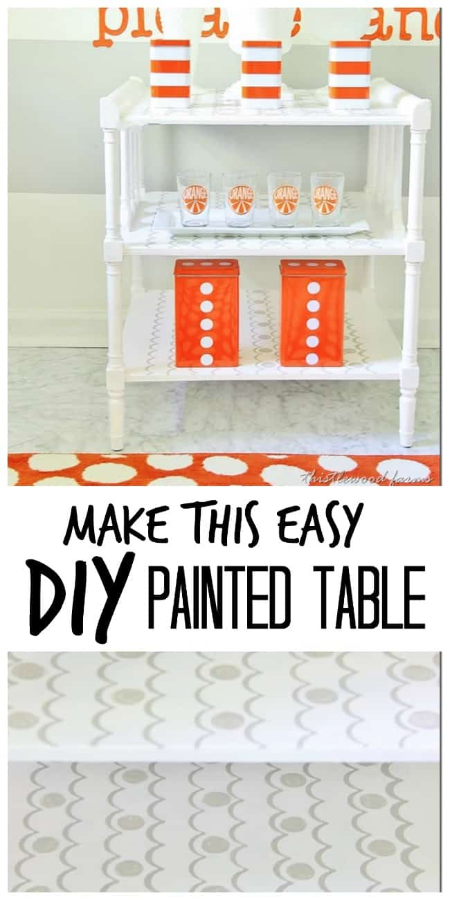 easy diy painted table