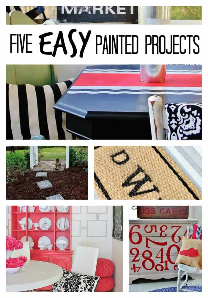 five easy painted projects