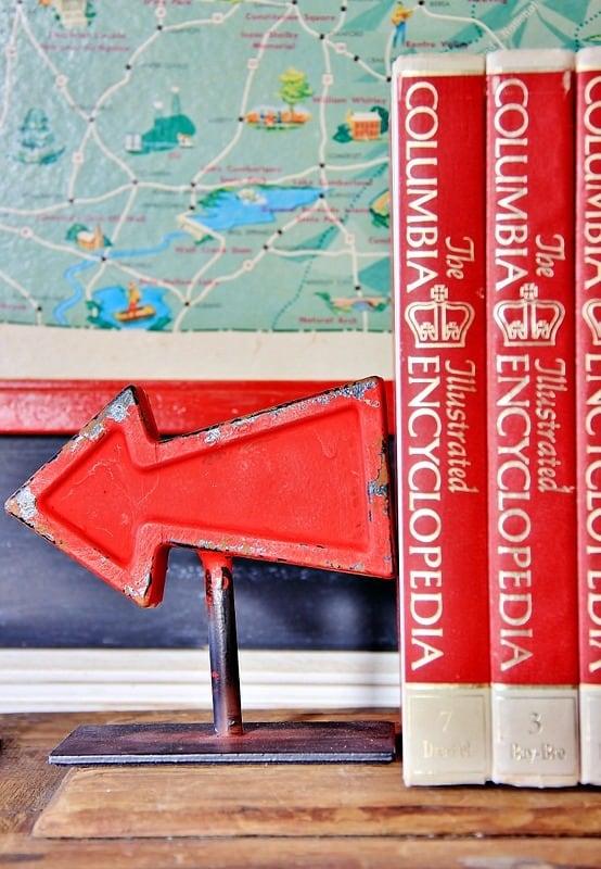 arrow bookends vintage decor
