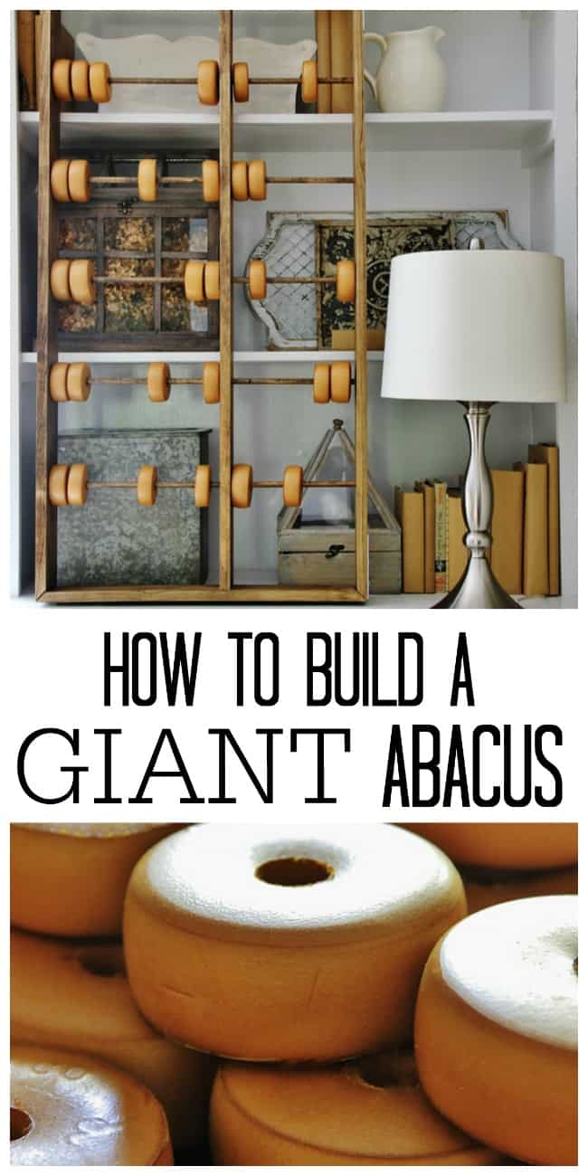 This tutorial on how to build a giant abacus is easy to follow.