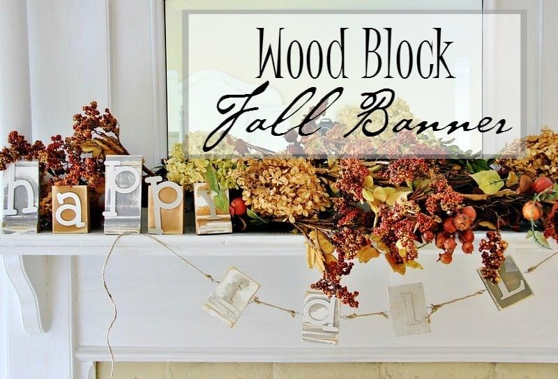 diy project wood block fall banner