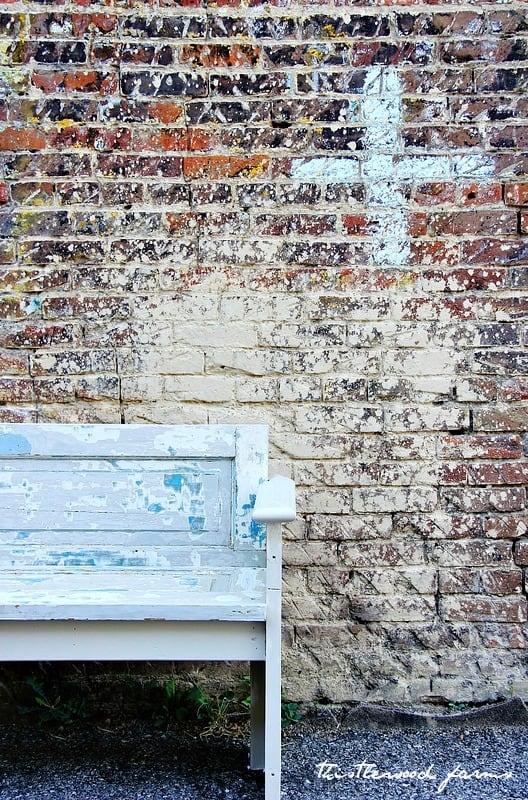 door into a bench diy