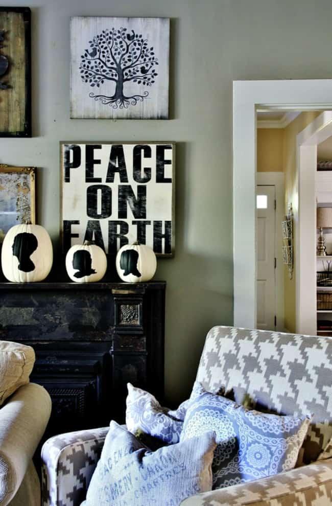 fall decor living room