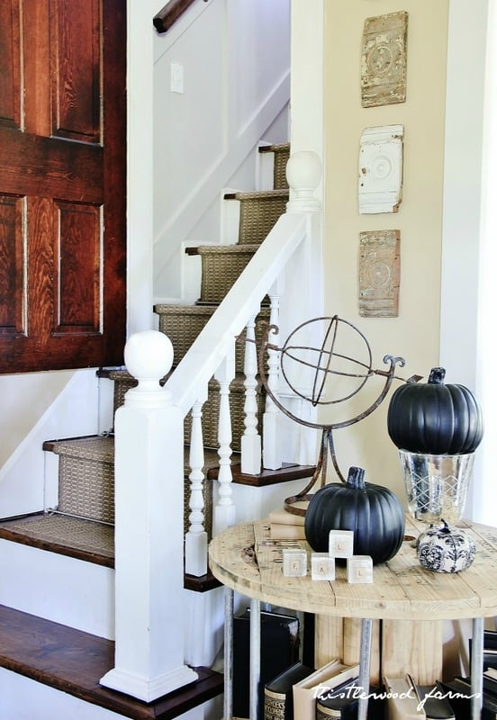 hallway fall decor
