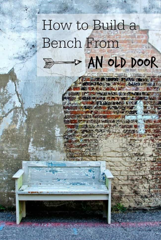 how to build a bench from old door