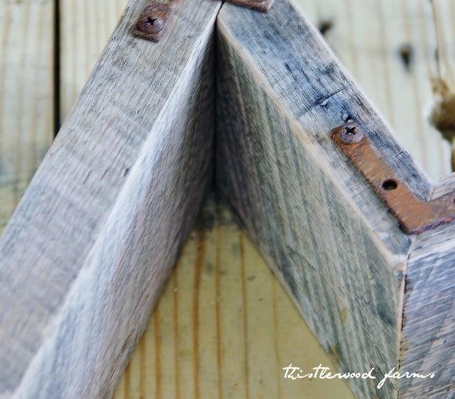 pallet wood letter diy