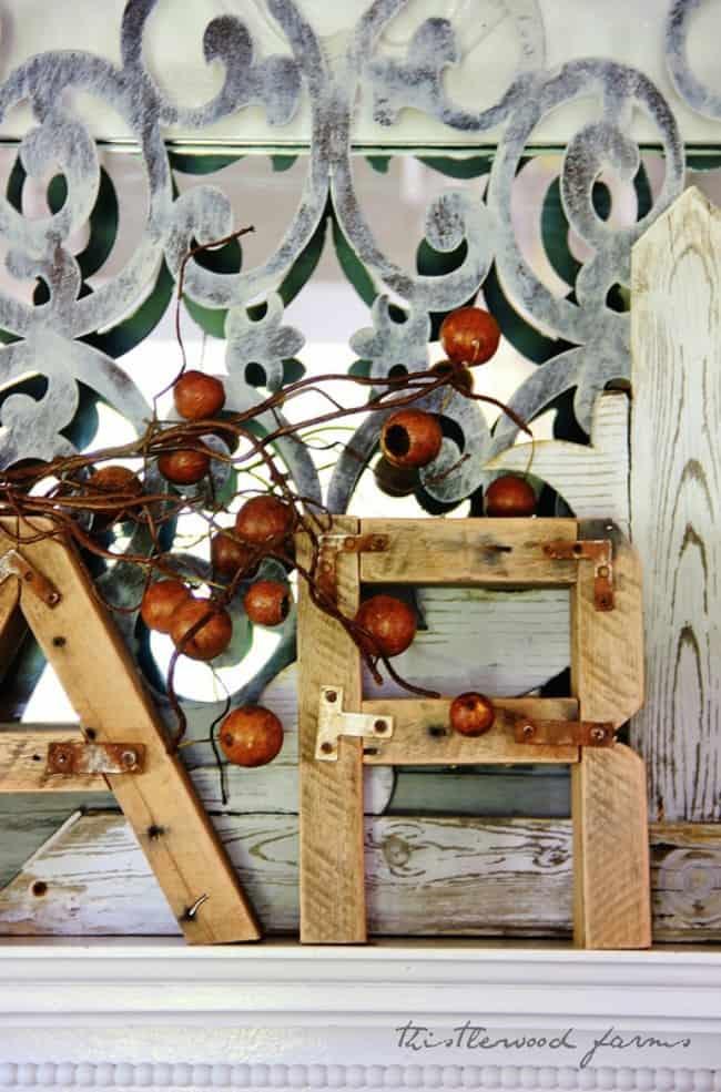 pallet wood letter project
