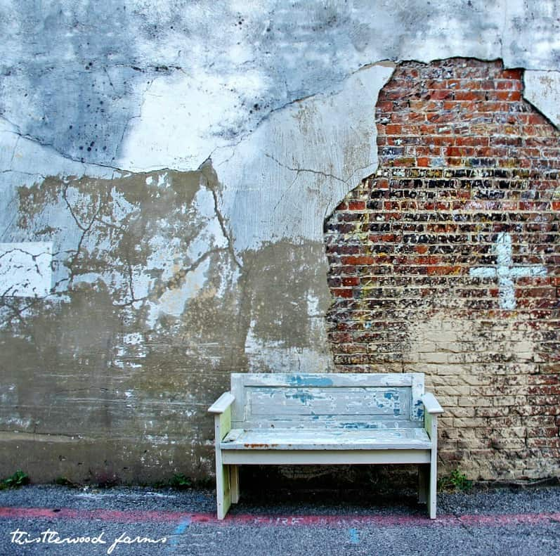 This old, rustic wooden bench was made from a door; here's how to complete this project
